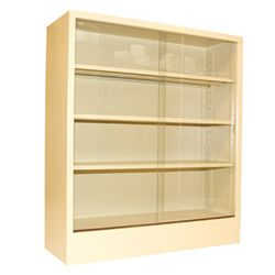 Steel Bookcase with Sliding Glass Doors