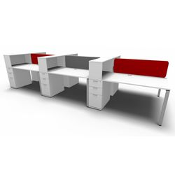 Evolution Slimline Bench 6 Way Workstation with Multi Storage