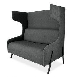 Chit Chat Curved Booth - PC Steel Rectangular Tube Legs