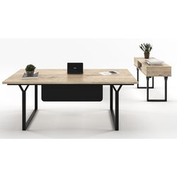 Note Managerial Desk with Freestanding Extention (Melamine)