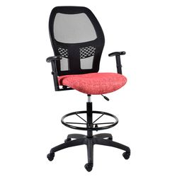 Xenon Draughtsman Chair (Netted Backrest)