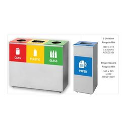 Square Recycle Waste Bin Range