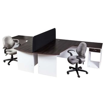 E-Space 2 Way Workstation with Desk Height Pedestal (1 Drw)