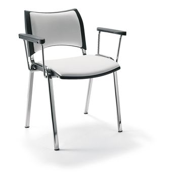ISO Smart 4 Legged Chair Upholstered with Arm Rest