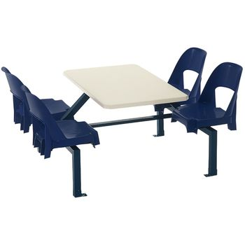 Canteen Seating set - 4 Seater Alpine Shell