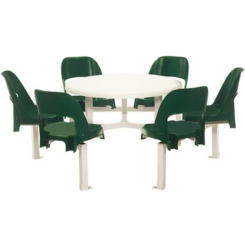 Canteen Seating set - 6 Seater Alpine Shell (Round)