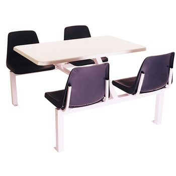 Canteen Seating set - 4 Seater Polyshell